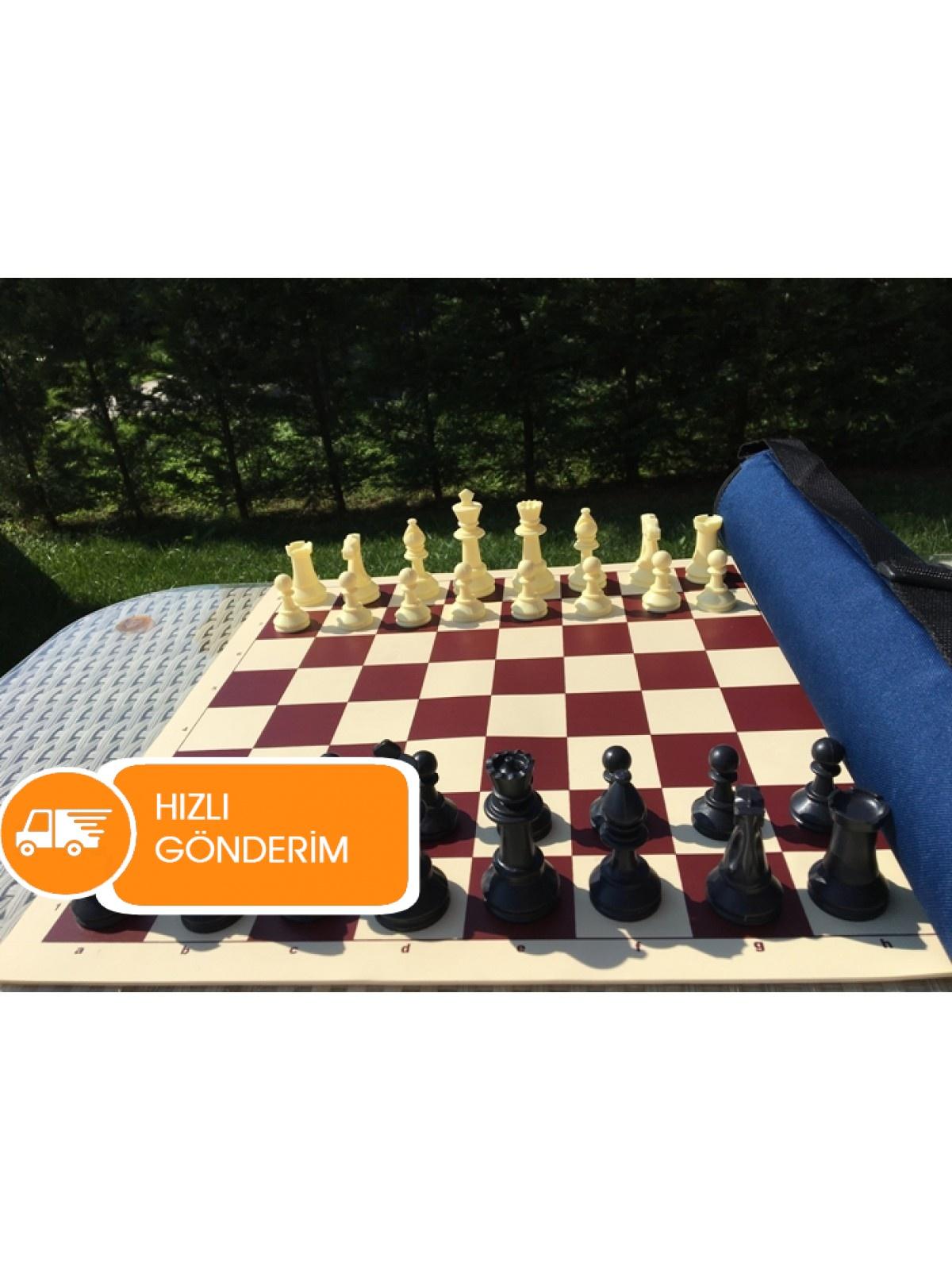 Turnuva Satranç Takımı - 95 mm Şah Yüksekliği (Öde indir CD Hediyeli)