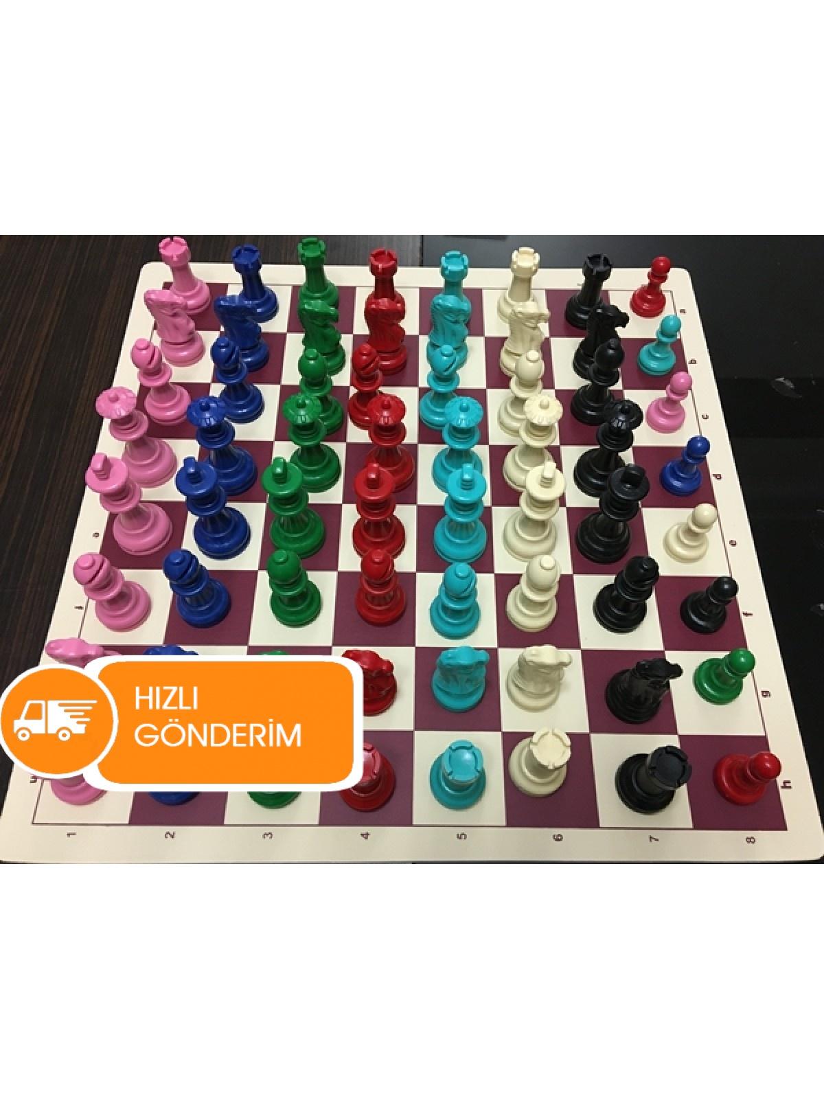 Renkli Satranç Takımları (85 mm)